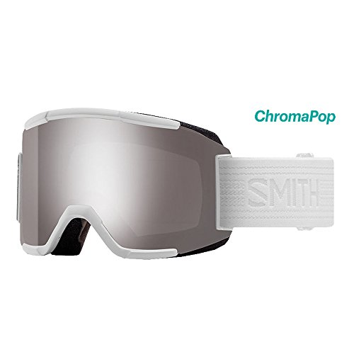 Smith Optics Adult Squad Snow Goggles,Whiteout Frame/ChromaPop Sun Platinum Mirror - Frame Platinum Mirror Lens