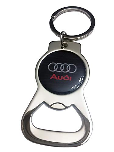 Benzie Bottle Opener Stainless Steel Key Chain Ring for Audi Fans