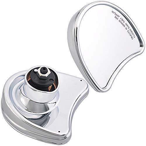 Chrome Inner Fairing Mount Side Mirrors Rearview Mirror Fits For Harley Touring FLHT FLHX FLH 1996-2013