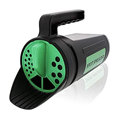 Spot Spreader - Hand Held Seed & Salt Spreader Shaker - Sturdy Design with Multiple Openings - Holds up to 80 Ounces - Fertilizer - Diatomaceous