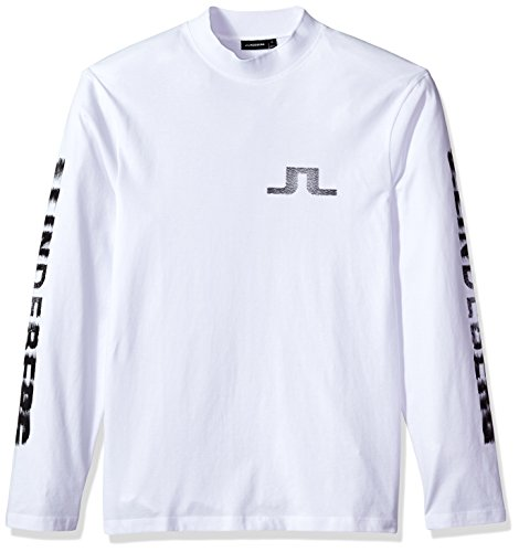 J.Lindeberg Men's Jl Logo Tee, White, Small by J.Lindeberg