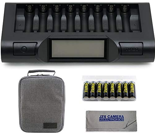 Powerex MH-C980 Turbo Charger Analyzer for AA/AAA Batteries with Powerex Pro Rechargeable AA NiMH Batteries 1.2V, 2700mAh 8-Pack and Powerex Accessory Padded Bag Travel Kit (New 2019 Model) by Powerex (Image #9)