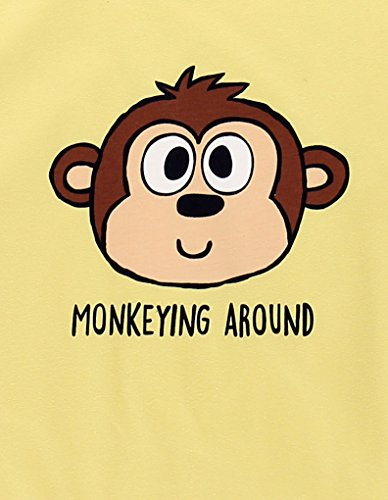 LazyOne Mujer Monkeying Around Fitted Pijama Camesita