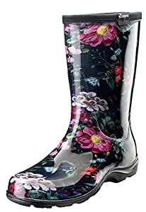 Sloggers Women's Waterproof Rain and Garden Boot with Comfort Insole Black Size: 8
