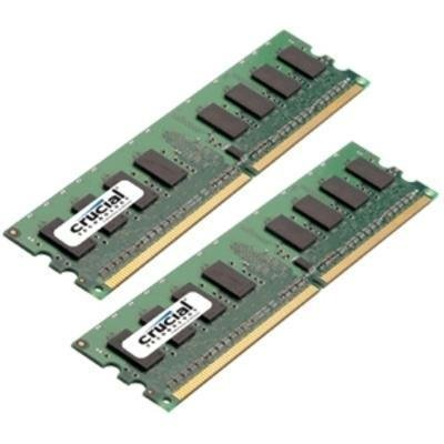 Crucial 4GB kit (2GBx2) DDR2 1066MHz (PC2-8500) CL7 Unbuffered UDIMM Desktop Memory CT2KIT25664AA1067 / (Pavilion Ddr2 Ram Upgrade)