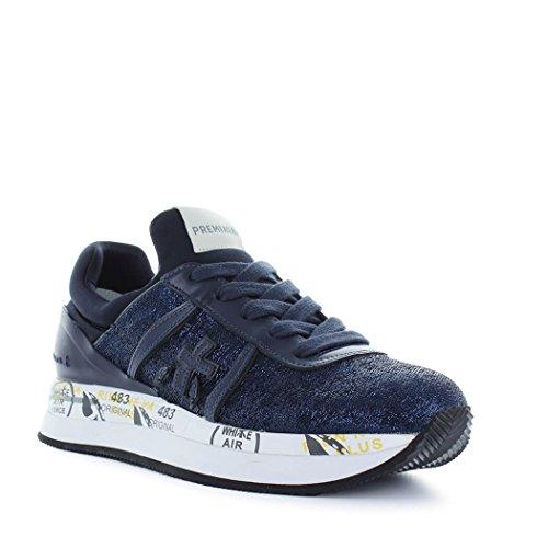 PREMIATA Damen LIZ3002 Blau Leder Sneakers