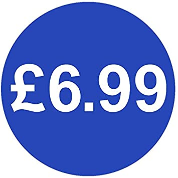 f323ef09c863 £ Bright Blue Price Stickers - 13mm - £6.99, 500: Amazon.co.uk ...