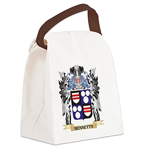 (CafePress - Bennetts Coat of Arms - Family Cr Canvas Lunch Bag - Canvas Lunch Bag with Strap Handle)
