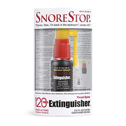 SnoreStop Extinguisher 120 Throat Snoring Spray
