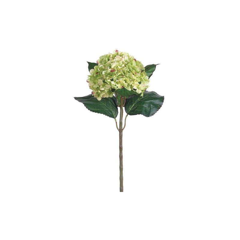 """silk flower arrangements 22"""" silk hydrangea flower spray -green (case of 6)"""