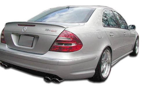 Duraflex Replacement for 2003-2009 Mercedes E Class W211 4DR AMG Look Rear Bumper Cover - 1 Piece ()