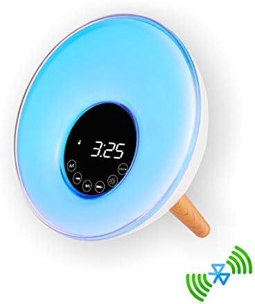 新しい自然ウェイクアップブルートゥーススピーカー目覚まし時計