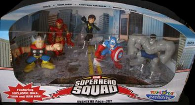 Marvel Super Hero Squad - Avengers Face-Off! Playset Toys R Us Exclusive