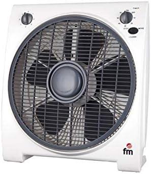 FM Ventilador Box BF4 30CM 5A 45W Blanco: Amazon.es: Hogar
