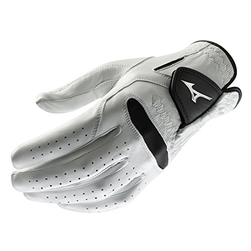 Mizuno 2018 Pro Men's Golf Golf Glove, Left Hand, White/Black, Medium/Large