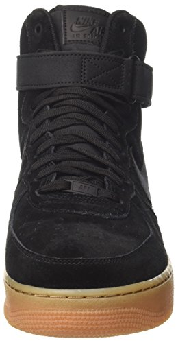 NIKE Herren Air Force 1 High '07 Lv8 Wildleder Basketballschuh Schwarz / Schwarz Gum Med Brown