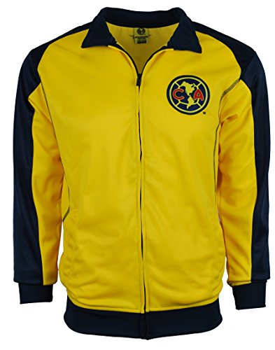 Football America Adult Football (Club America Jacket Track Soccer Adult Sizes Soccer Football Official Merchandise (Medium, Yellow))