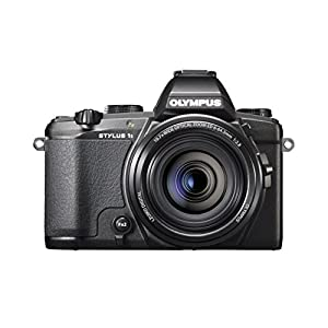 Olympus Stylus 1s Digital Camera with 10.7x Optical Image Stabilized Zoom and 3-Inch LCD (Black)