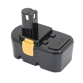 REEXBON Batería Ryobi 18V 3.0Ah Ni-Mh Batería de Reemplazo para Ryobi ABP1803 BCP1817/2SM BPP-1813 BPP-1815 BPP-1817 BPP-1817/2 BPP-1817M BPP-1820 ...