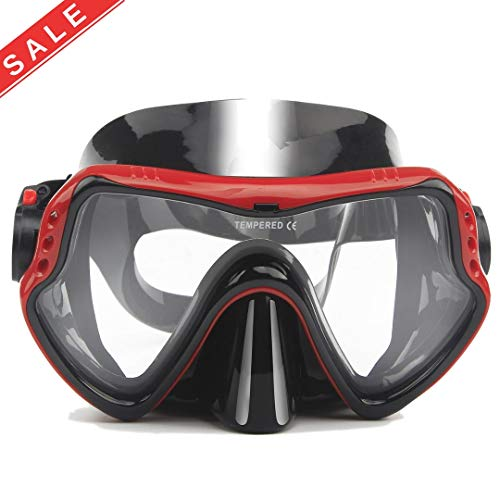To Max Scuba Diving Mask - Professional Snorkeling Gear Mask - Wide View Tempered Glass Goggles,Scuba Diving Equipment Mask,Anti-leakage Silicone Swimming Goggles Mask for Adult