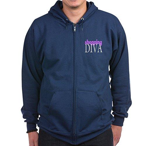 CafePress - Shopping Diva - Zip Hoodie, Classic Hooded Sweatshirt with Metal Zipper
