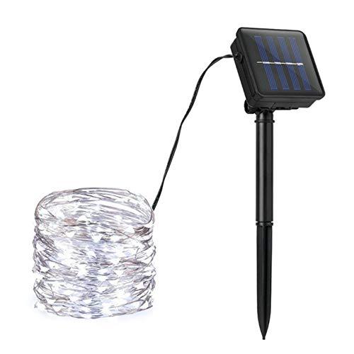 NEXGADGET Guirnaldas de Luces Solares Decorativas 8 Modos 20M Luz LED 200, Alambre de Cobre Flexible Impermeable IP65 para...