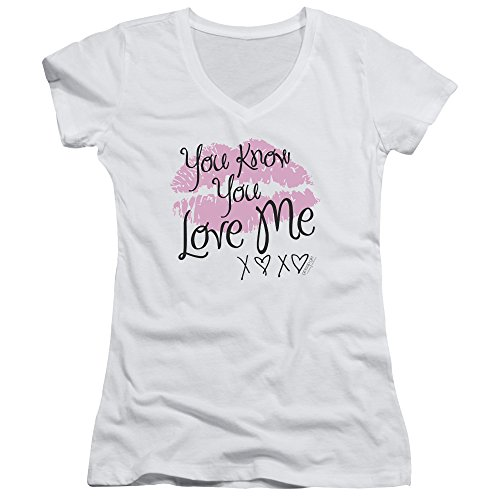 Gossip Girl You Love Me Women's Sheer Fitted V-Neck T - Gossip T-shirts Girl