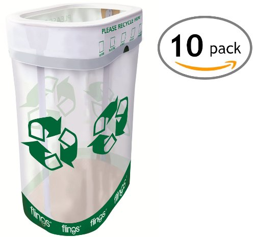 Flings Bins POP UP Recycle Bins - 10 Pack