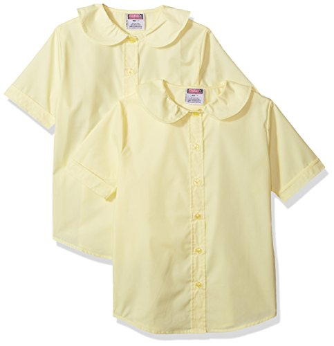 Genuine Girls' 2 Pack Blouse (More Styles Available), Basic Yellow, 14 by Genuine