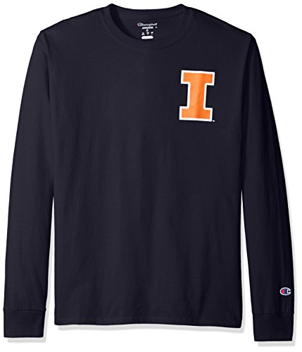(NCAA Illinois Illini Men's Champs Long Sleeve T-Shirt, X-Large, Navy)