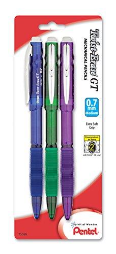 Pentel Twist Erase Mechanical Assorted QE207BP3M