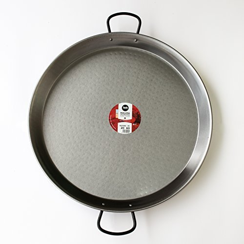 Paella Pan- 60cm for 20 People (Pulida/Polished, 60cm) by Vaello Campos