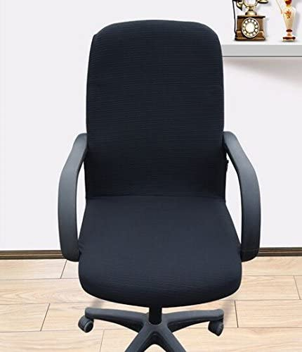 TM Size L Office Slipcovers Cloth Chair pads Removable Cover stretch cushion Resilient Fabric Black Shihualine