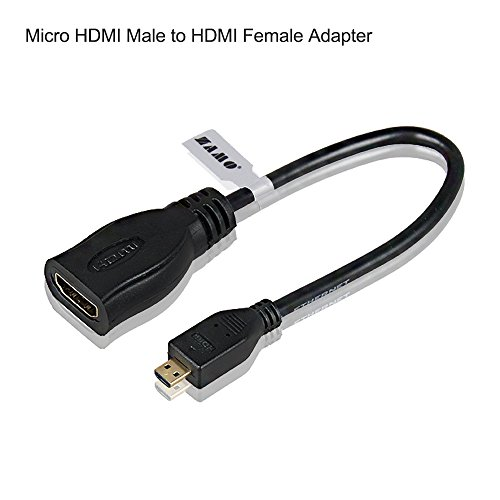 ZAMO 7.5 Inch Gold Plated Micro HDMI to HDMI male to female