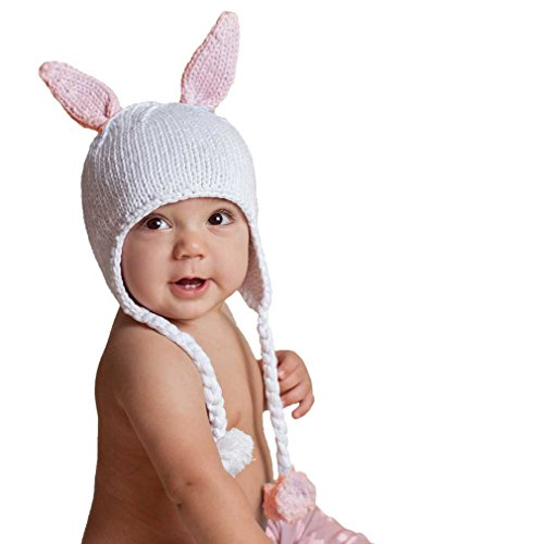 unny Rabbit Girls Pink Beanie Hat Size Small ()