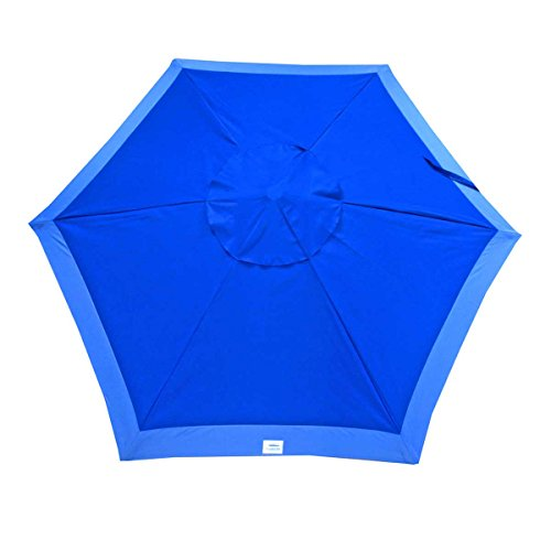 Shadezilla 7 ft Deluxe Beach/Patio Umbrella UPF100 - Market Style with Hook