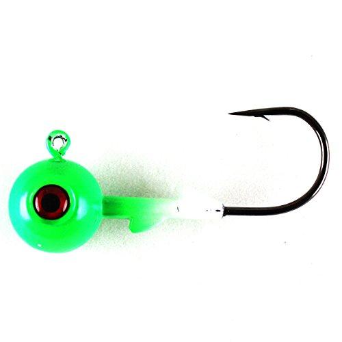 1 Oz Jig - Jigging World 1oz Power Ball Jig Head - Chartreuse