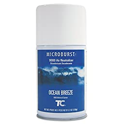 TC TEC 4012471 Microburst 9000 Air Freshener Refill, Ocean Breeze, 5.3 oz., Aerosol (Pack of 4)