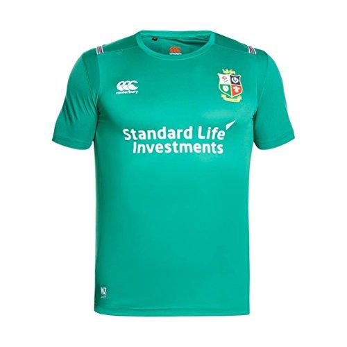 Canterbury British and Irish Lions Vapodri Superlight Small Logo T-Shirt - SS17 - Large - Green (Shirt Lions Rugby)