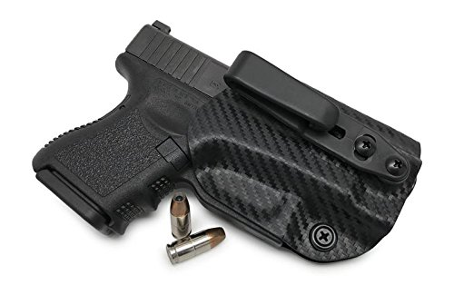 (Concealment Express: Glock 17/19/22/23/26/27/31/32/33 (Gen 1-5) Tuckable Ambidextrous IWB KYDEX Holster - Custom Fit - US Made - Fully Adjustable (CF BLK, Tuck))