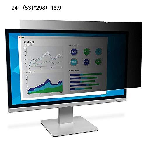 Computer Privacy Screen Filter, Anti-Glare Blickschutzfilm, Anti-Scratch Anti-Spy Schutzfolie Für 21-24 Zoll Computer…