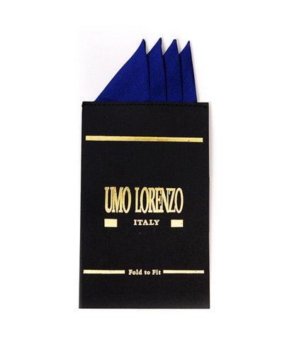 Solid Color Silk Hanky Card (Royal ()