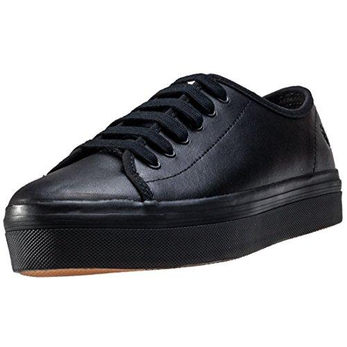 Fred Perry Phoenix Flatform Mujer Zapatillas Negro Negro Negro