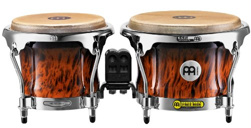(Meinl Percussion FWB400BB Free Ride Series Wood Bongos, Brown Burl)