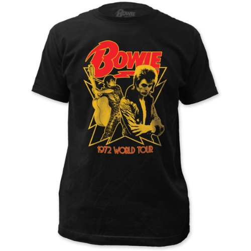 David Bowie - 1972 World Tour (slim fit) T-Shirt Size L