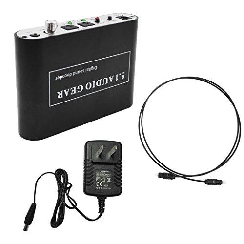 Baoblaze 5.1 Audio Gear Digital Sound Decoder Converter - Optical SPDIF/Coaxial Dolby AC3 DTS to 5.1CH Analog Audio US