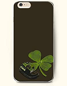 OOFIT New Apple iPhone 6 ( 4.7 Inches) Hard Case Cover - Clover and Luck