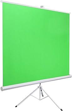 Chroma Key Verde port/átil Green Screen con Estructura y Estuche r/ígido de Aluminio Roll up Ideal Fondos fotografia Estudio Croma Verde con Soporte Plegable