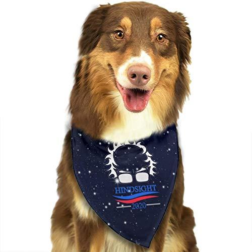 Vote Hindsight 2020 Bernie Sanders for President Classic Cute Bandana Triangle Bibs Scarfs for Pet Cat Puppy Dog