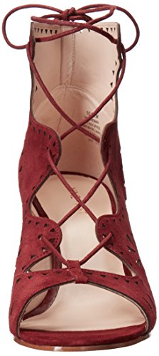 Red Dress Women's Sandal Nine Dark Suede West Gweniah CqawW0xnU4